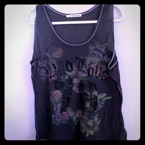 Maurices burnout flowery tank🌹💗